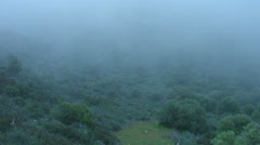 Mist covering mountains timelapse, weird place, mysterious atmosphere, thriller Stock Footage