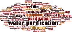 Water purification word cloud Stock Illustration