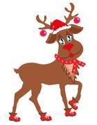Cute Christmas reindeer Piirros