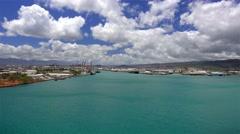 Blue Waters of Honolulu Harbor Oahu Stock Footage