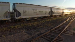 Transport train in a cargo yard Stock Footage