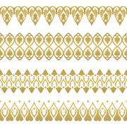 Seamless floral tiling border - stock illustration