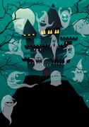 Haunted Castles Stock Illustration