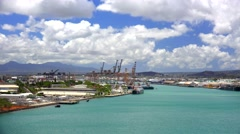 Calm Waters of Honolulu Harbor Oahu Stock Footage