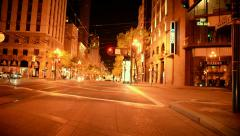 San Francisco Driving Plate 25 Market St at Night Stock Footage