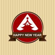 Happy new year,Happy Holiday Badge vector Stock Illustration