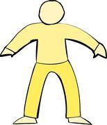 Yellow Human Body Shape - stock illustration