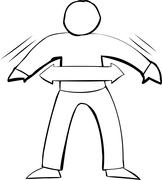 Outline Symbol of Fit Person Stock Illustration