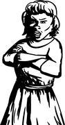 Annoyed Female Stock Illustration