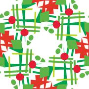 Abstract Christmas Wreaths Stock Illustration