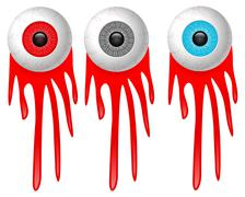 Eye and blood Stock Illustration