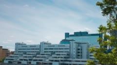London modern architecture. Unique buildings Stock Footage