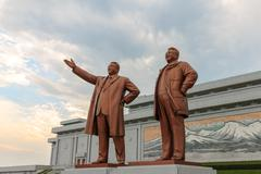 Grand Monument in Pyongyang. - stock photo