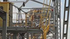 Giant Coal Mine Excavator F60 In Lichterfeld Germany Stock Footage