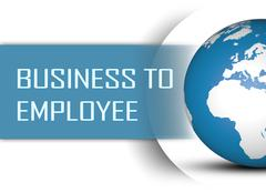 Business to Employee - stock illustration