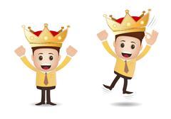 marketing business king - stock illustration