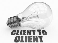 Client to Client - stock illustration