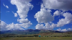 clouds moving over mountains - Altai, 4k - stock footage