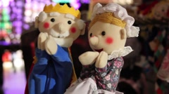 Close Up Puppets Stock Footage