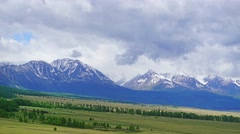 Clouds moving over mountains - Altai, 4k Stock Footage