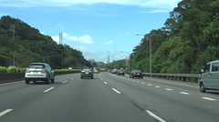 Freeway Driving Northbound Taiwan, POV, Taipei 101 4K -Dan Stock Footage