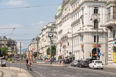 Stock Photo of Rush Hour Traffic In Downtown Vienna