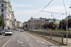 Rush Hour Traffic In Downtown Vienna - stock photo