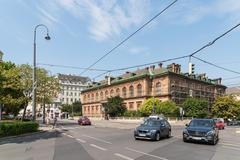 Rush Hour Traffic In Downtown Vienna - stock photo