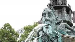 The Historiensaeule in Josef-Görres-Platz close-up detail Stock Footage
