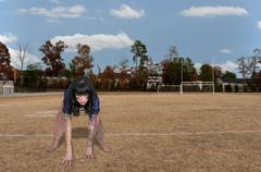 Woman Football Player Stock Photos