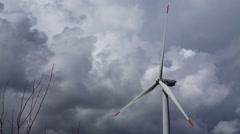Wİnd Turbine in Storm - stock footage