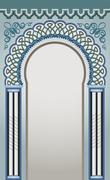 Decorative arc - stock illustration