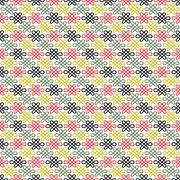 Floral Chinese  seamless pattern - stock illustration