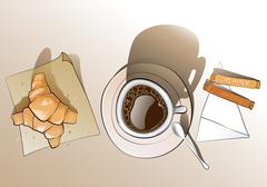 Morning breakfast - stock illustration