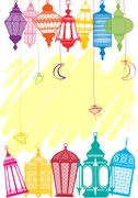 Vibrant colored Lantern Stock Illustration
