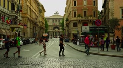 ULTRA HD 4K real time shot,Historic architecture on the streets of Rome Stock Footage
