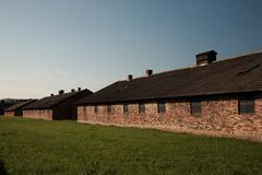 Quarantine block, Auschwitz concentration camp - stock photo