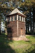 Old Wooden Watch Tower, Auschwitz Stock Photos