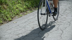 Cyclist pedalling - stock footage