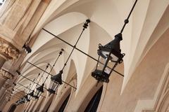 Archways under Cloth Hall, Krakow - stock photo