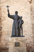 Statue of Fray Junipero Serra - stock photo