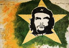 Stock Photo of Che Guevara painting