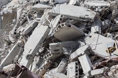Demolished house before reconstruction Stock Photos