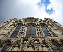 Windows of York Minster - stock photo