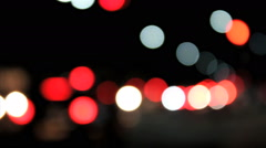 Bokeh light - traffic jam Stock Footage