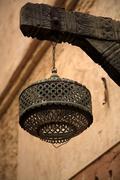 Lamp in Moroccan Medina - stock photo