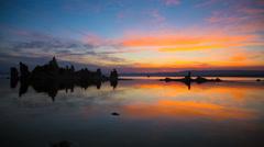 Amazing 4K Sunrise Sunset Mono Lake Timelapse Stock Footage