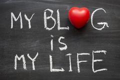 blog is my life - stock photo