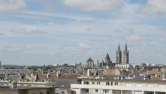 Caen in Northern Normandy capital of Calvados region 4K 2160p UltraHD slow ti Stock Footage