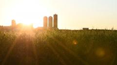 Sunrise Over Farm Stock Footage